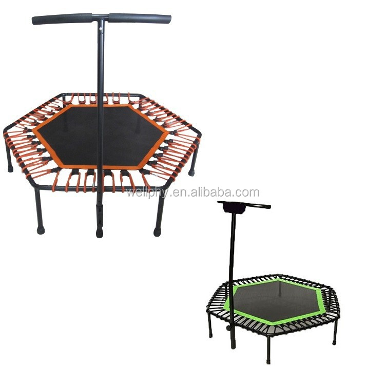 Adult Fitness Commercial Hexagonal trampoline Jump Springfree Trampoline