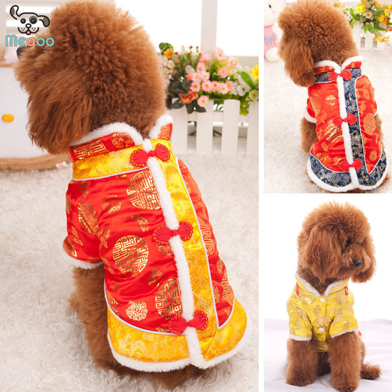 Newfashioned Pet Dog Tang Suit Exquisite Thicken Dog Winter Coat