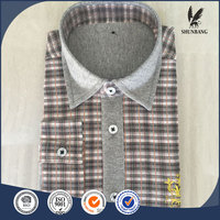 Wholesale kids clothing teen boys cotton plaid checked shirt