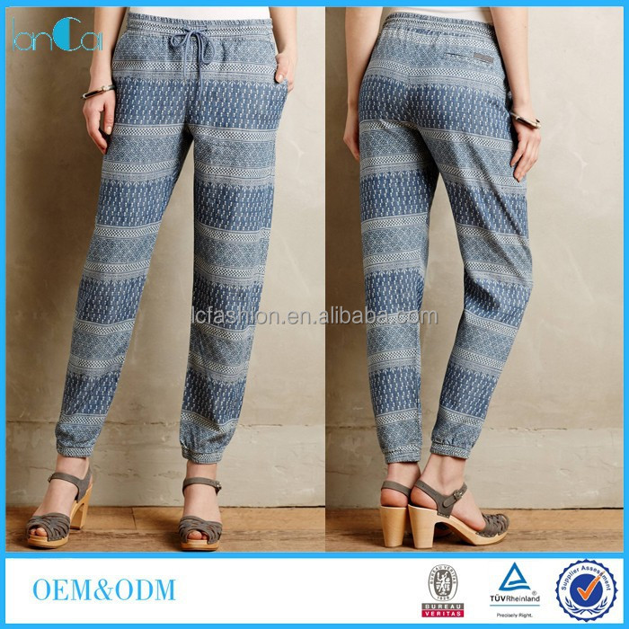 Wholesale New Fashion Printed Women Casual Joggers Pants 2015