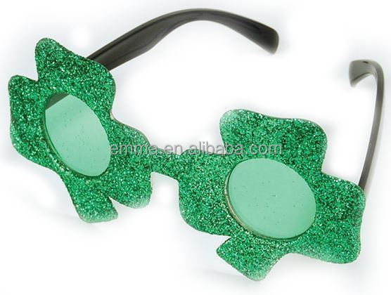 Green Irish Clover Glasses Sunglasses St Patricks Day Irish Fancy Dress Shamrock TG17058