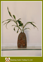 decorative natural stone vase H18-20cm