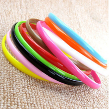 8mm Cute Thin Head Band Candy Color Plastic Hair Ornaments Hoop Hairband With Teeth For Girls
