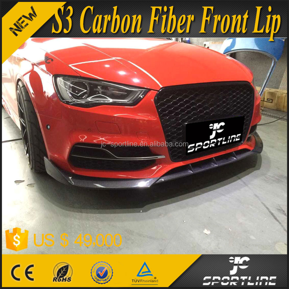 Jc style s3 auto car carbon fiber front lip for audi a3 s3 for Jc motors used cars