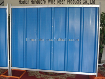 Event Solid Steel Hoarding Panel Fence Construction Hoarding Panel