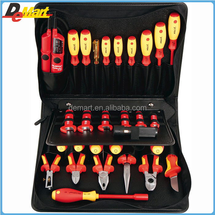 Hoffmann 680540 HOFFMANN Tool set, 29-piece, tools insulated to VDE in a tool case