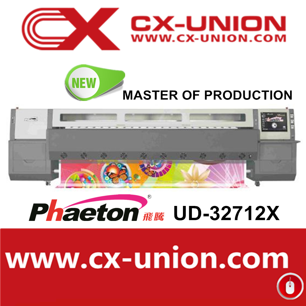 Large fomat Canvas Printer Phaeton UD-32712X inkjet with high speed