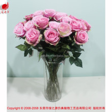 2015 pink silk flower artificial rose wedding rose wholesale