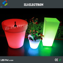 color changing rechargeable led lighted planter pots