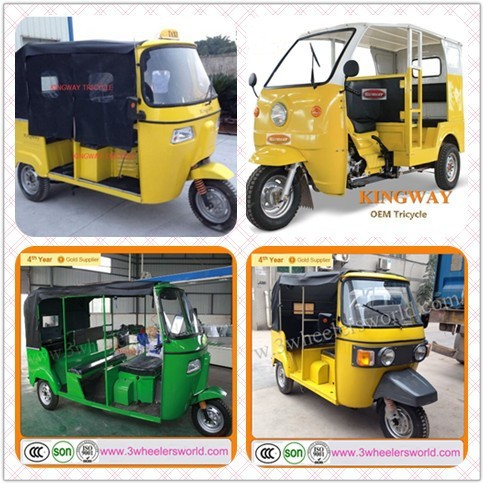 China 150cc Bajaj Tuk Tuk 3 wheel Racing Tricycle / Bajaj Passenger Motor Tricycle