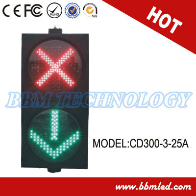 12'' red cross green arrow led canopy lights in turning