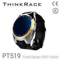 Thinkrace PT519 model Pedometer sensor and SOS gps adult watch tracker