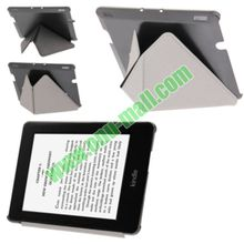 Triangle Folding PU Leather Case for Amazon Kindle Fire HDX 7 with Holder