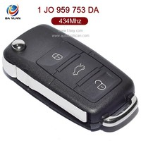 3 button car remote for VW 1 JO 959 753 DA 434Mhz for Europe South America AK001007