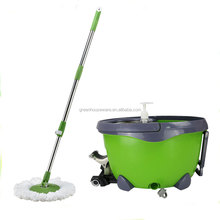 easy Magic Mop 360 Bucket 2 Heads micro fiber Spin Rotating mop (LV-12)