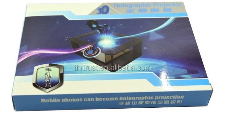 Factory 3d holographic advertising player pyramid hologram display screen stainless 3d holographic projector