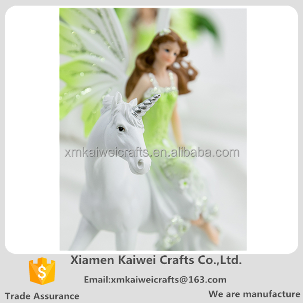 European Style Resin Flower Angel Fairy Wings Figurine For Room Decoration