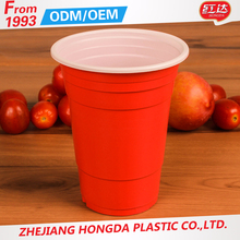 hot sell Disposable 16oz Plastic PP Clear Cup With Custom Logo Print