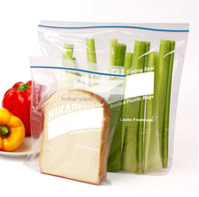 Chian new items high quality resealable sandwich bag with write panel