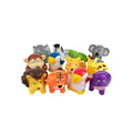 custom plastic small cartoon zoo animal set toy