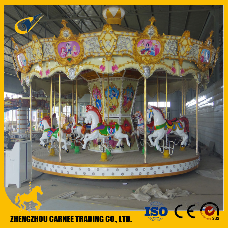 outdoor funfair facility children christmas commercial carousel