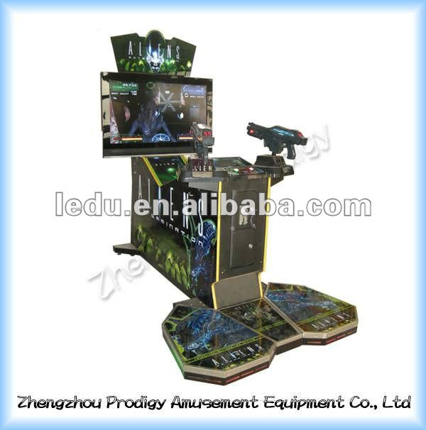 Aliens - coin operated video simulator shooting game console