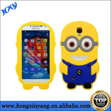 cartoon hybrid minions case for samsung galaxy s4 with BV certificate