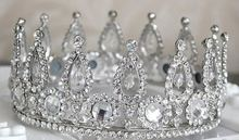 Fashion Rhinestone Metal Pageant Jewelry Beautiful Hair Crown Wholesale