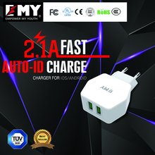 Mobile phone accessories, usb phone charger with 2 usb port