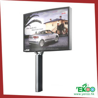 rotating scrolling solar vertical large size steel structure screen advertising display