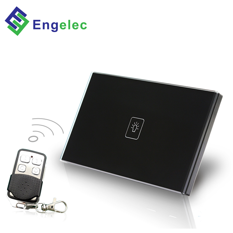 Remote control US Dimmer switch <strong>1</strong> gang Black 110-250v 50/60Hz 500w 118*72 size ce RoHs waterproof soft touch light switch