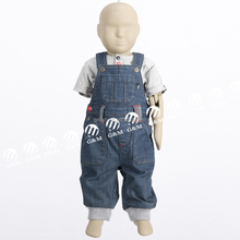 2015 manufacture OEM supply customized new baby clothing cotton t shirts with denim dungaree pants for baby boys