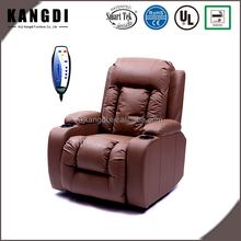 KD-MS7027 Leather home theater chair electric recliner sofa with cup holder