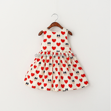 baby girl frock korean style winnie love heart printed round neck sleeveless dress for baby girl