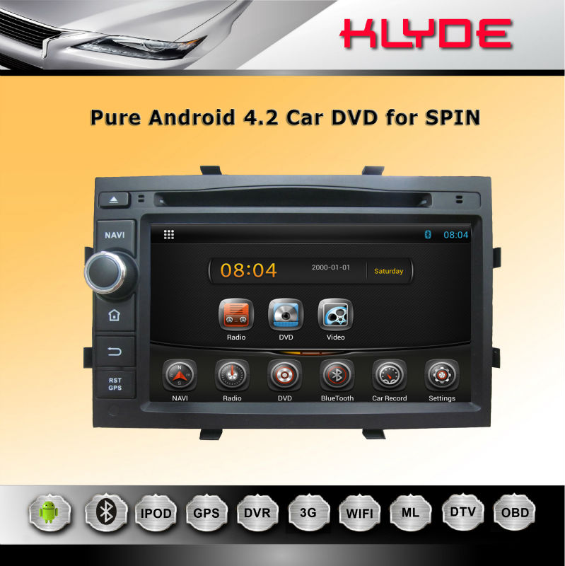Good Quality 2DIN with 1.6G CPU Support BT 3G car dvd special for spin with GPS navi