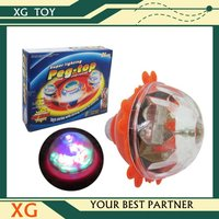 plastic flashing colorful top toy for kids spinning top toy