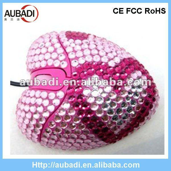 Fancy Promotional Crystal Mouse wired mouse optical mouse