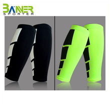 Customized unisex leg sleeve breathable fabric soft shin guards compression calf support