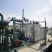 waste oil recycling machine production line re-refining to yellow base oil
