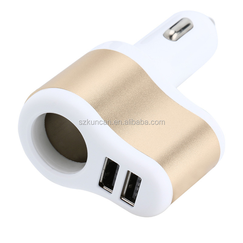 Phone accessories quick charge car charger adapter input 12~24V output 5V 3 usb car charger qc2.0/qc3.0