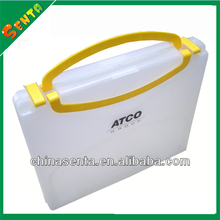 a4 plastic portable file cases with handle