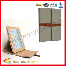 For apple ipad,leather belt+buckle for apple ipad 2&3&4,smart cover for ipad air