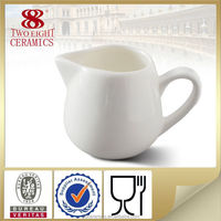 Wholesale table ware, white ceramic milk pot, coffee creamer container