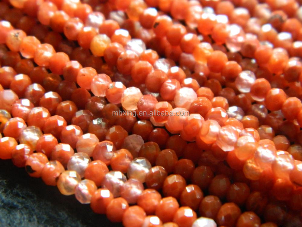 Free shipping natural 2.5*3.5mm chinese sardonyx agate handmade faceted rondelle gemstone beads for jewelry making