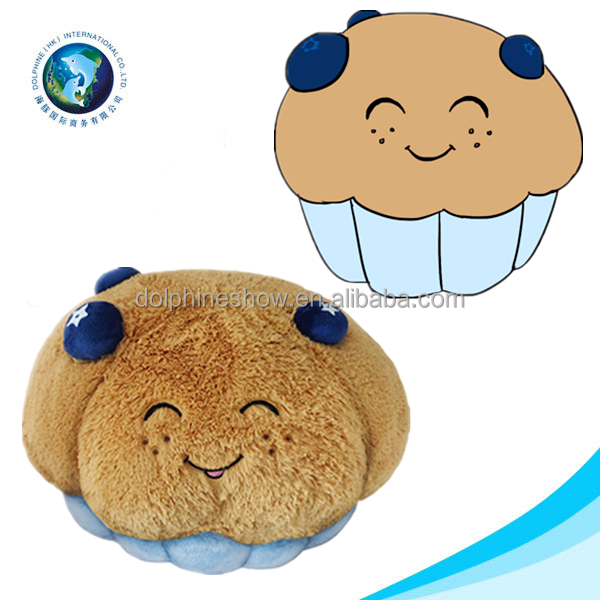 Cute lifelike design soft stuffed cupcake plush crochet cake toy