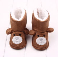 Cute knitting wool baby warm boots winter indoor shoes