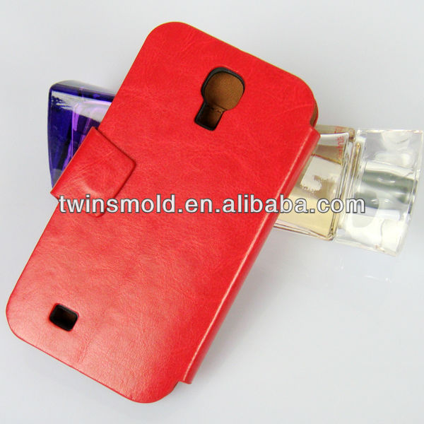 Hot selling wallet flip leather case for Samsung S4 Galaxy i9500