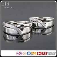 Latest Bridal Jewellery ,18K Gold or Platinum Diamond Wedding Bands Engagement Rings Set For Men Women Ladies Gay Couple