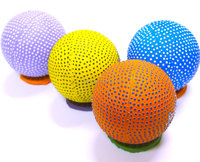 2016 New product- high bounce ball with spot, bump ball, tow color bump ball
