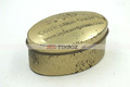 Gold Gift Jewerly Ellipse Shape Tin Box with Hinged Lid
